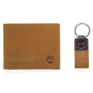 Timberland Leather Wallet with Key Fob Gift Set